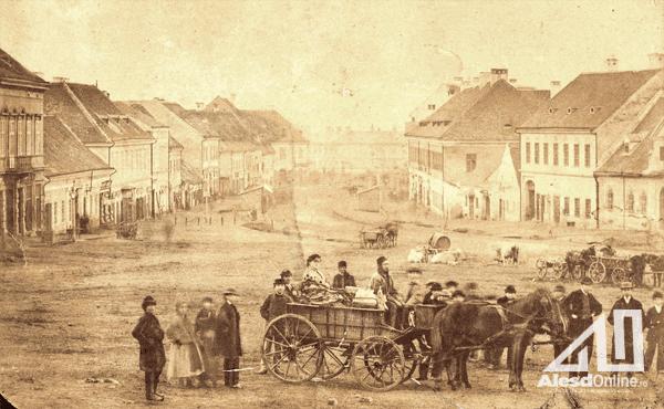 Pesti  tér a 19 sz.ban