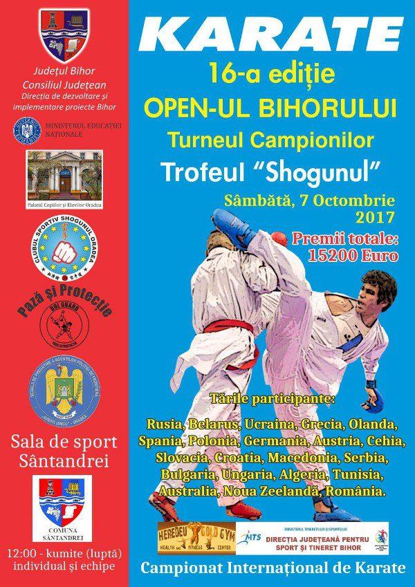 """Ediţiei a XVI-a a """"Openului Bihorului – Turneul campionilor"""", competiție de karate"""