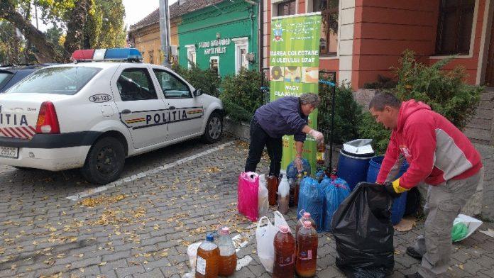 aleșdeni au colectat uleiul uzat