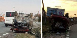 accident produs la ieșire din Beiuș spre Ștei
