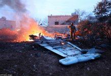 Avion rusesc, doborât în Siria
