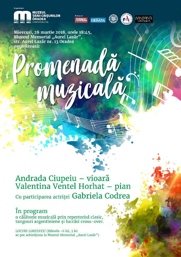 """Seratelor cu Bijuterii Muzicale la Muzeul Memorial """"Aurel Lazăr"""" din Oradea"""