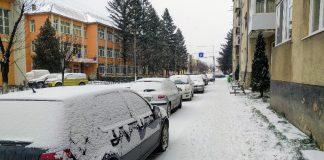 zăpadă Aleșd