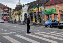 poliția rutieră trecere pietoni Aleșd20