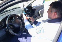 Pistol Radar poliția Orașului Aleșd