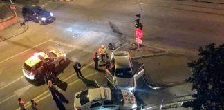 Accident grav în Oradea, o maşină de Poliţie a fost izbită în plin~2-800x484