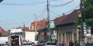 accident zebra Aleșd 24.05.2018