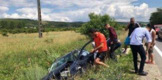 Accident la ieşirea din Aleşd spre Lugaşu de Jos800x579