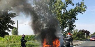 Incendiu la un autoturism, pe raza localității Nojorid ~2-800x534