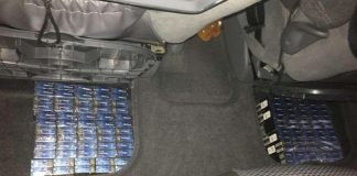 Ţigări ascunse într-un autoturism, confiscate de poliţiştii de frontieră din cadrul Punctului de Trecere a Frontierei Borș -800x480