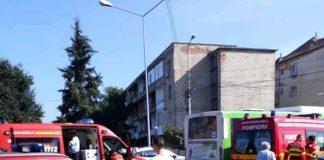 Accident în fața Poliției Rutiere din Oradea~2-800x623