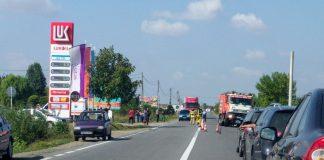 Accident rutier lângă Aleşd: O maşină a ajuns în şanţ-800x450