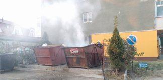Tomberon de gunoi cuprins de flăcări în Aleșd