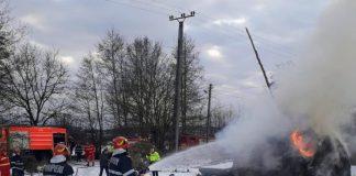 Incendiu la o căpiță de fân, în Cuieșd