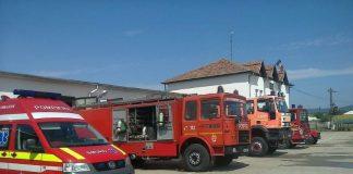 stația de pompieri din Aleșd