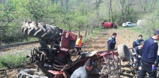 tractor răsturnat Tilecuș
