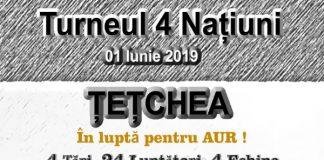 Turneul 4 Natiuni , Afis A3 , Alb Negru-600x869