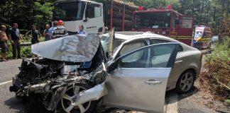Accident pe DN1H la ieşirea din Peștiș 3