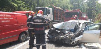 Accident pe DN1H la ieşirea din Peștiș 7