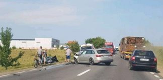 Accident frontal în Oșorhei