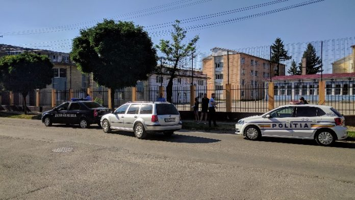 Accident mașina Jandarmerie Aleșd