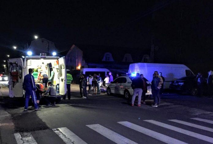 Accident pe strada Ciocârliei din Aleșd