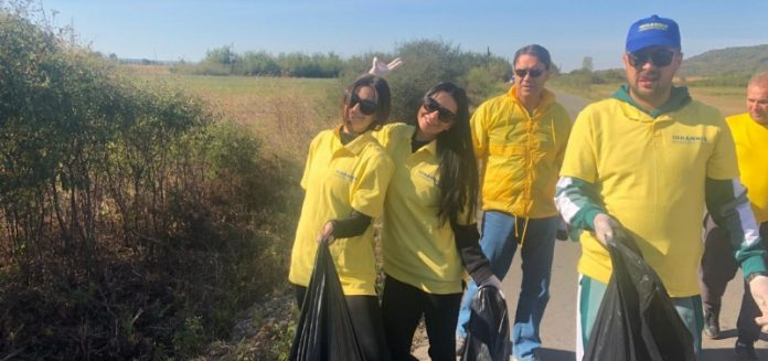 TNL Bihor si deputatul Ioan Cupsa intr-o actiune de ecologizare a comunei Ineu