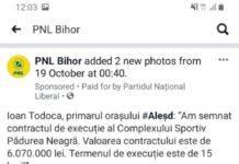 PNL vrea să își asume investiția Consiliului Județean Bihor de la Complexul Sportiv din Pădurea Neagră