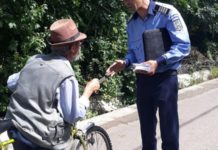 biciclist amendat polițe