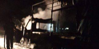 O autoutilitară a luat foc în mers între Hotar și Telechiu!