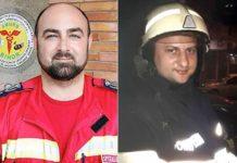Dr. Dacian Juca şi pompierul Adrian Pupăză
