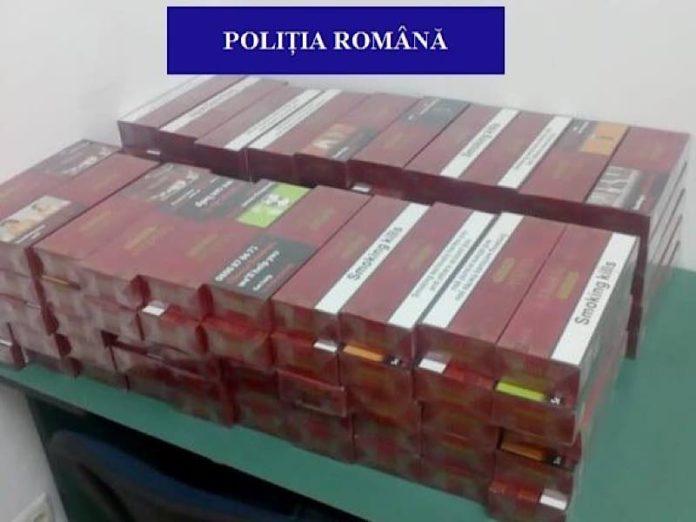 Țigări confiscat de polițiștii