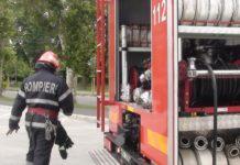 Incendiu la un bloc de pe strada Aleea Salca din Oradea