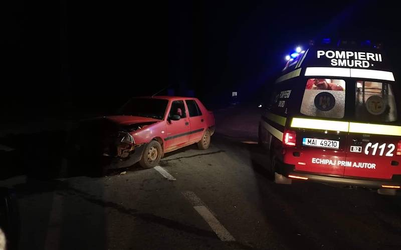 accident între două mașini la Vârciorog