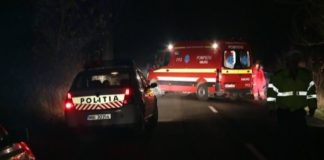 Poliția ambulanta accident