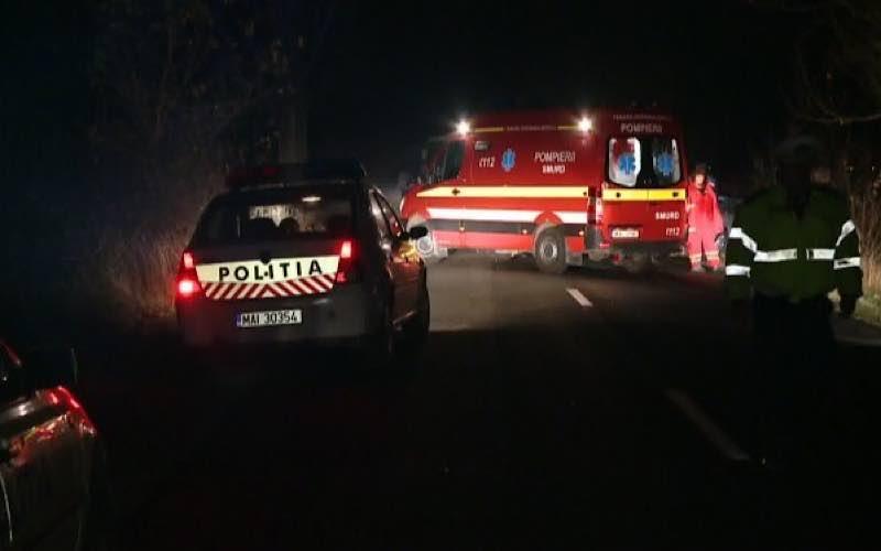 Poliția ambulanta accident