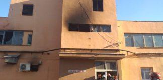 Incendiu la un poligon de tragere din Oradea