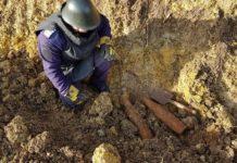 proiectile asanate de pompierii militari pirotehniști