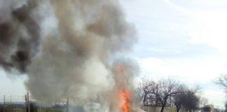 Incendiu la un autoturism