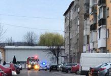 Incendiu la hornul unui bloc din Aleșd