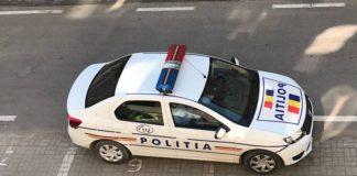 Mașina poliție orașului Aleșd
