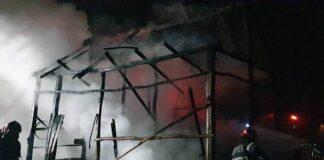 Incendiu în Șimian
