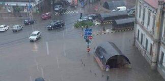 Străzi inundate, în Oradea!