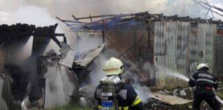 Incendiu violent la o gospodărie din Alparea