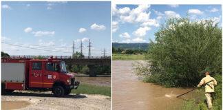 Pompieri din Aleșd caută o fetiță căzută în apele Crișului Repede