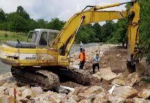 Se lucrează pe râul Crișul Pietros