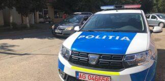 Mașină poliția Aleșd