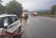 Accident pe D.N.1, în Beznea