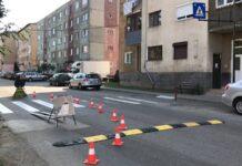 limitatoare de viteză pe strada Ciocârliei