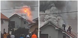 Două incendii de la coșuri de fum în weekend